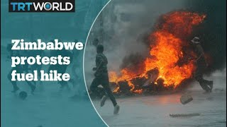 Zimbabwe protests after a 150 percent fuel price increase
