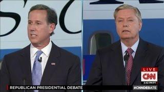 Rick Santorum, Lindsey Graham spar over immigration