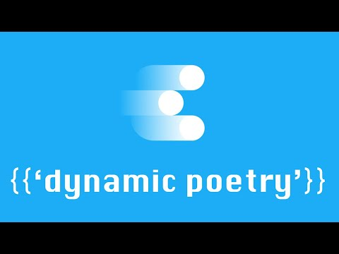 Writing {{'poems that change', 'chance poems', 'dynamic poetry'}}