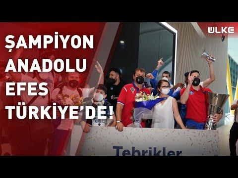 THY Euroleague şampiyonu olan Anadolu Efes, Türkiye'ye geldi!