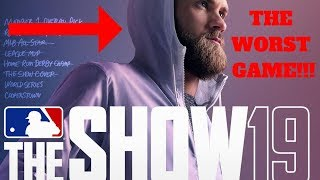 MLB THE SHOW 19 GAMEPLAY!! THE WORST GAME!! MLB THE SHOW 18 GAMEPLAY!!