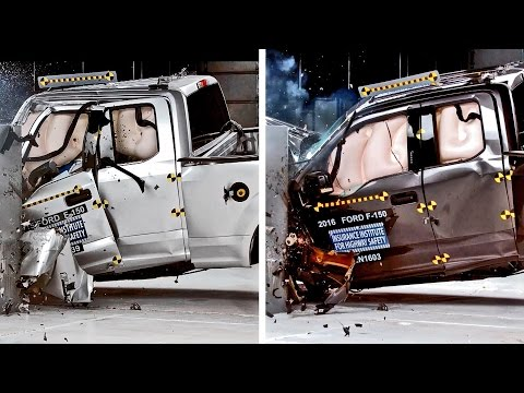 Crash Tests 2016 Ford F-150 vs. 2015 F-150