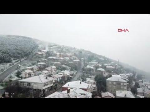 Beyaza bürünen Kartal havadan görüntülendi