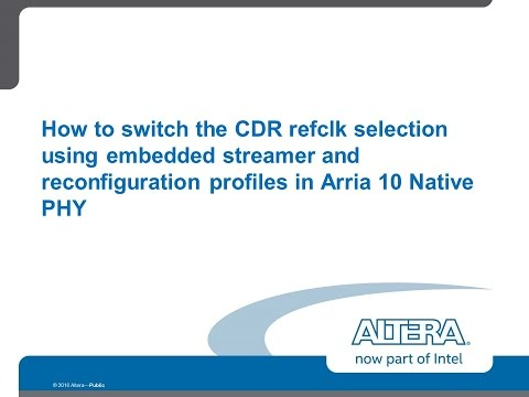 Switching the CDR reference clock source on Arria 10 FPGAs