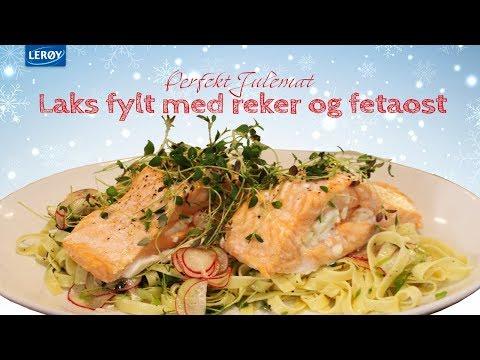 Laks fylt med fetaost og reker - Julefristelser med Lerøy