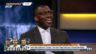 Antonio Cromartie: Agree with Michael Irvin that Dak Prescott is severely underrated? - Undisputed