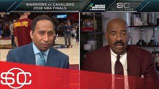 Cavaliers fan Steve Harvey to Stephen A.: 'I don't think LeBron is gonna stay' | SportsCenter | ESPN
