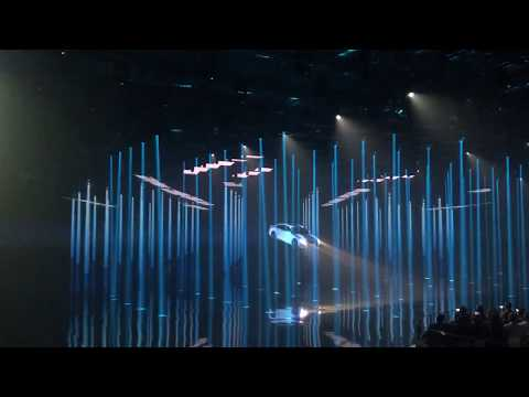 Amazing intro of the all new Audi A8 in Barcelona