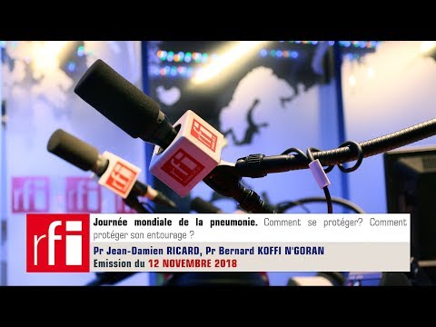Podcast sur la journée mondiale de la pneumonie. Pr Jean-Damien Ricard.  Pr Bernard Koffi N'Goran
