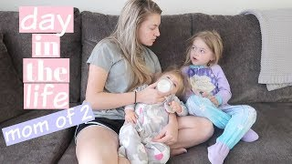 DAY IN THE LIFE OF A YOUNG MOM of 2!