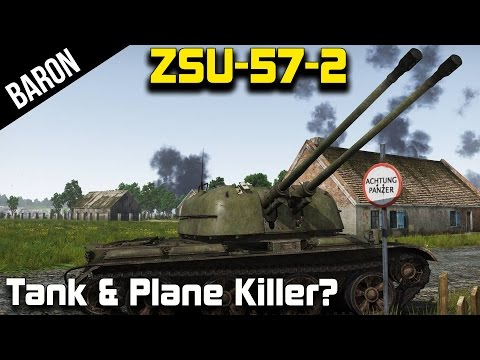 ZSU-57-2, Stalin's Best Tank and Plane Killer? (War Thunder 1.43 Tanks Gameplay)