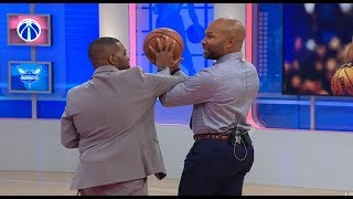 GameTime - Derek Fisher shows how James Harden mastered drawing fouls | January 16, 2019