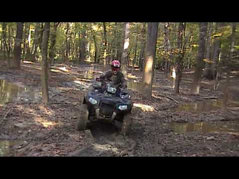 09 Sportsman 850 XP Playing in a little Mud