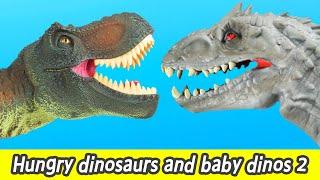 [EN] Hungry dinosaurs and baby dinos 2, dino cartoon, dinosaurs cartoon for kidsㅣCoCosToy