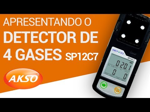 Detector de 4 Gases (CO+O2+H2S+EX) - SP12C7
