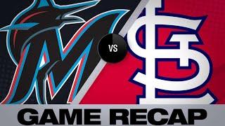 Carpenter, Fowler homer in win over Marlins | Marlins/Cardinals Game Highlights 6/17/19