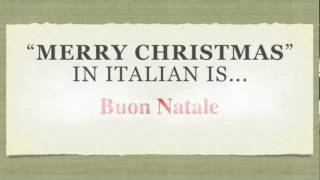 How To Spell Merry Christmas.How To Say Merry Christmas In Italian Buon Natale Youtube