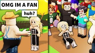 Pretending Roblox NOOBS are FAMOUS... with 200 players