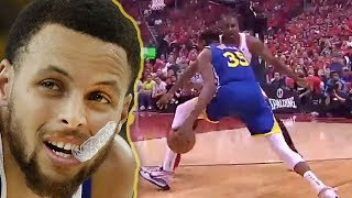 Steph Curry Cries After Seeing Kevin Durant's Achilles Injury At NBA Finals