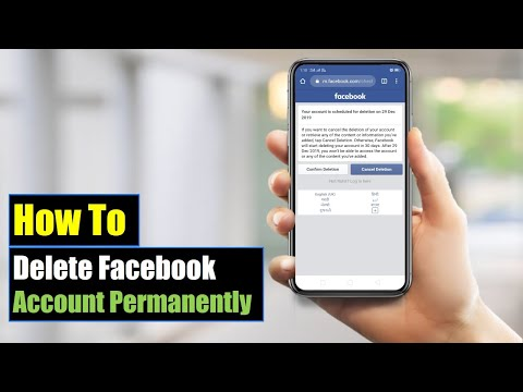 How to Delete Facebook Account Permanently On Mobile 2018