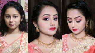 Step by step festival night make up & hair style tutorial//Durga puja,Navratri,Diwali,Wedding,Chhat.