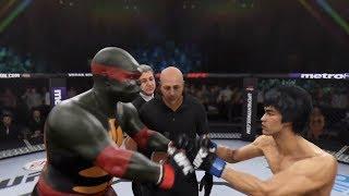 TMNT Raphael vs. Bruce Lee (EA sports UFC 3) - CPU vs. CPU