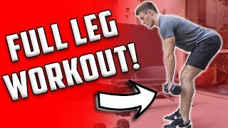 Full Leg Workout | 4 Leg Exercises With Dumbbells