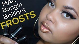 MAC Bangin' Brilliant FROST Lipstick Lip Swatches | KelseeBrianaJai