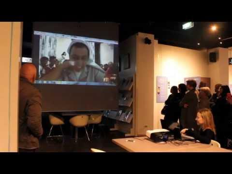 collegamento video Pieve di Cento - Adwa con gli allievi del corso di fotografia