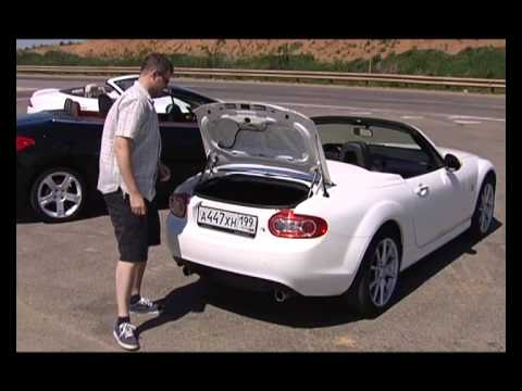 Наши тесты - Лето - время кабриолетов - Jaguar XKR VS Peugeot 308 CC VS Mazda MX5