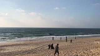 غزة- الاحتلال يهاجم المسير البحري الثامن     -