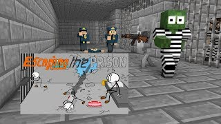 Monster School : Escaping the Prison - Minecraft Animation