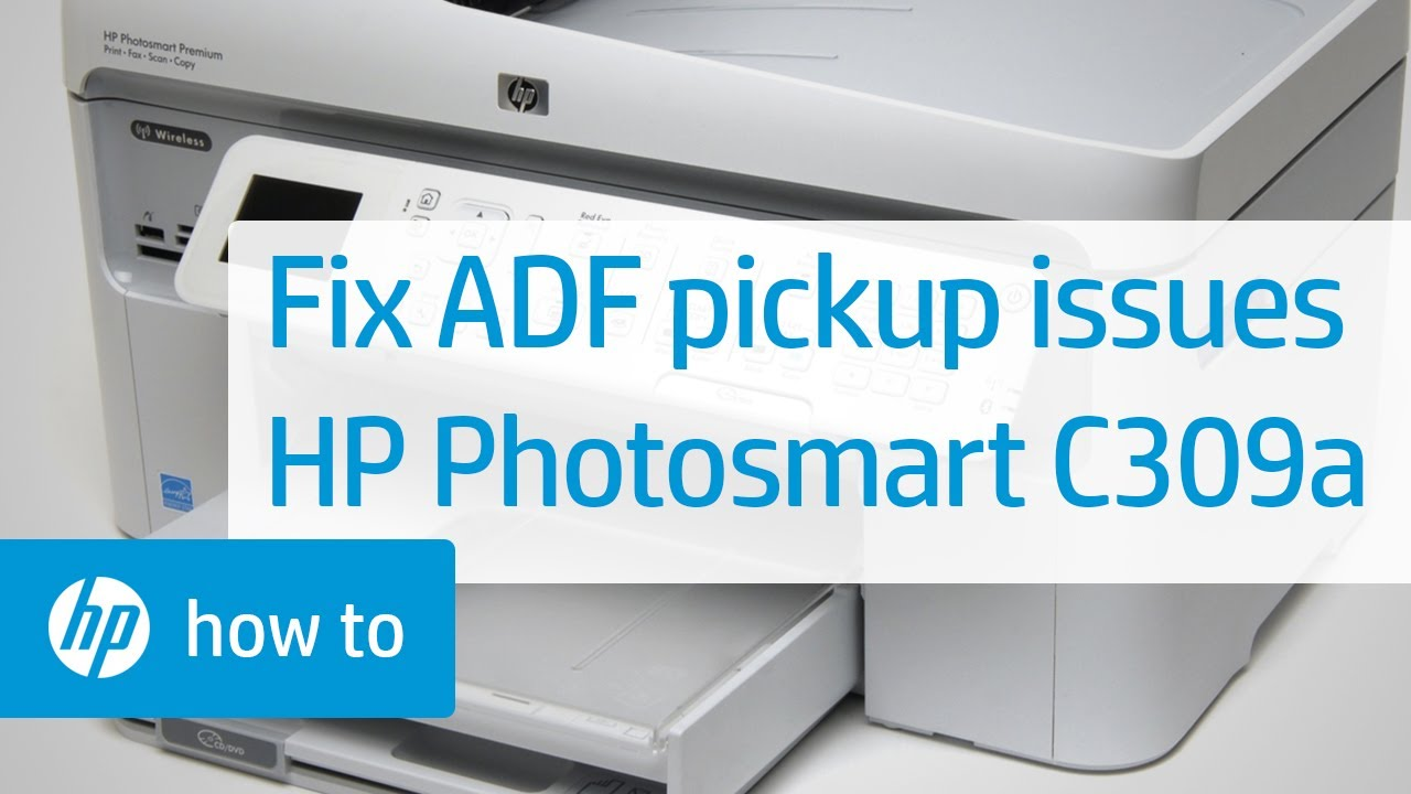 The Automatic Document Feeder Does Not Pick Up Paper Hp