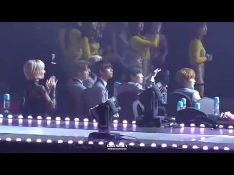 150128 가온차트 K-POP 어워드 방탄소년단 대기석 Super Junior REACTION + Ending