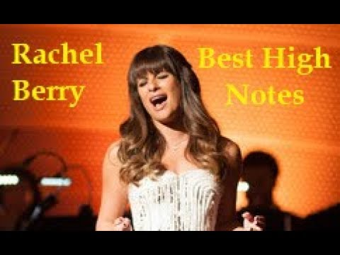 Rachel Berry Best High Notes In GLEE! [B4-Bb5]