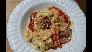 TGI Friday's Cajun Chicken And Shrimp Pasta