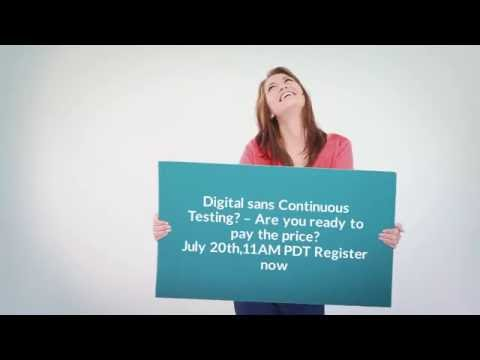Digital sans Continuous Testing? – Are you ready to pay the price?