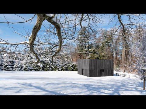 Richard Serra sculpture finds permanent home inside charred timber LX Pavilion | Dezeen