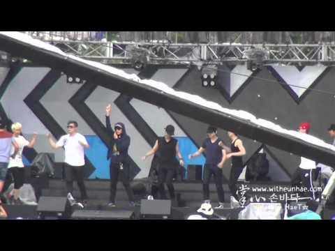 [fancam] 120813 Music Core in Sokcho Rehearsal - SPY (Super Junior)