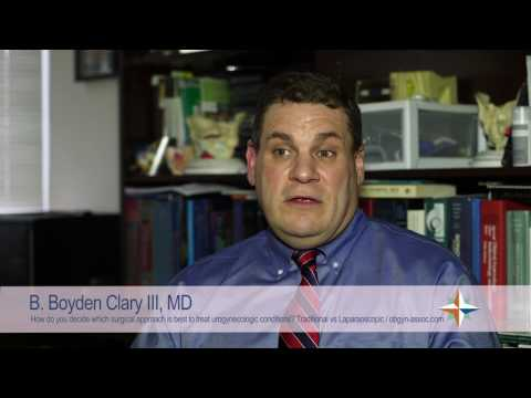 HCA VA Physicians – Dr. Boyd Clary, III, - Traditional vs Laparoscopic Surgery