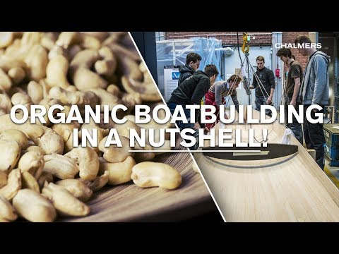 Cashew and linen laminate - organic boatbuilding in a nutshell!