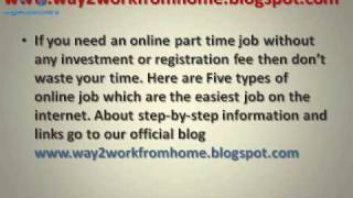 ONLINE JOB WITHOUT ANY INVESTMENT OR REGISTRATION FEE avi