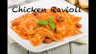 Ravioli in Creamy Tomato Sauce| Chicken Ravioli| Easy Ravioli Recipe At home| by Mallika