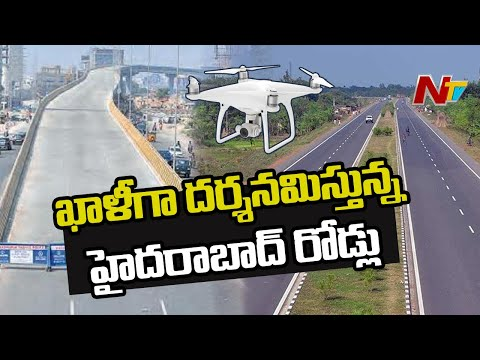 Exclusive: Drone visuals of Hyderabad roads during lockdown