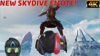 "New Apex Legends Caustic Unstable Footing SkyDive Emote In Game! "" #4K"