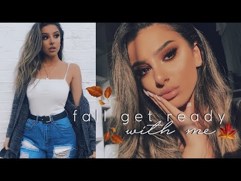 Get Ready With Me! - MAKEUP, HAIR & OUTFIT   FALL CASUAL + HUGE ANNOUNCEMENT! AD