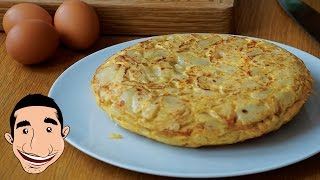 MOUTHWATERING SPANISH OMELETTE | How to Make Potato Omelette | Tortilla De Patatas Española