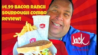 Jack In The Box® $4.99 Bacon Ranch Sourdough Combo REVIEW!