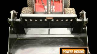Power hound mini skid steer video of attachments