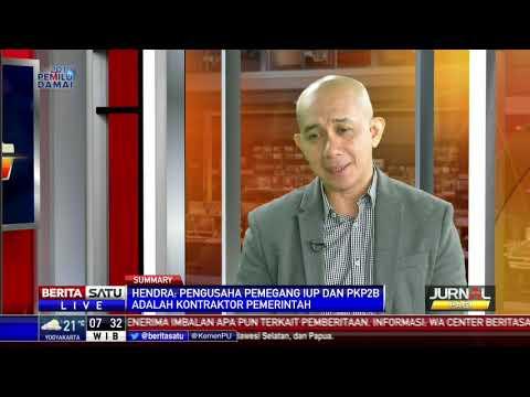Direktur Eksekutif  APBI, Hendra  Sinadia  di Berita  Satu TV, Dialog: Jual Beli Batubara Diawasi KPK #2